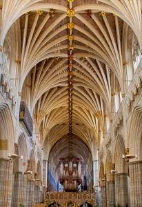Exeter Cathedral and pipe organ - poster sale